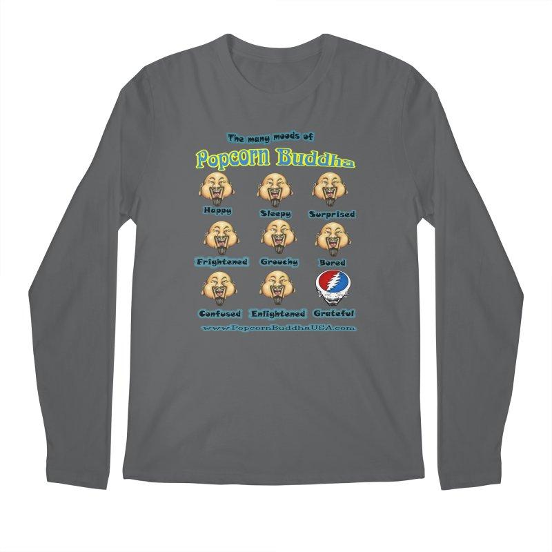 Grateful Mood Men's Regular Longsleeve T-Shirt by Popcorn Buddha Merchandise