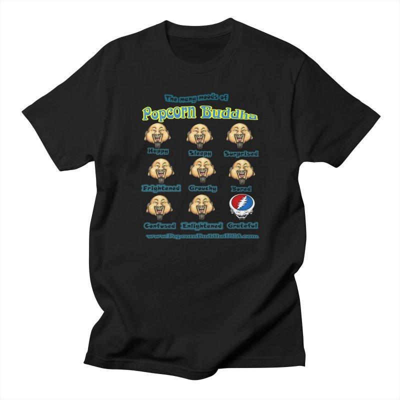Grateful Mood Women's Regular Unisex T-Shirt by Popcorn Buddha Merchandise