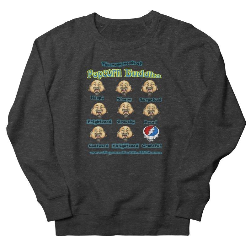 Grateful Mood Men's French Terry Sweatshirt by Popcorn Buddha Merchandise