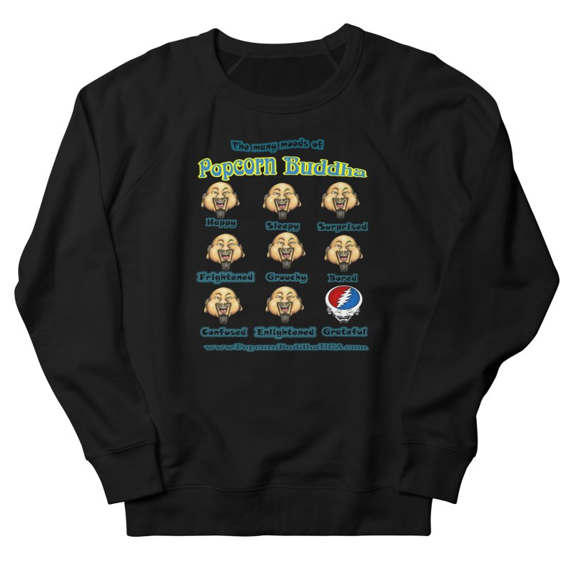 Grateful Mood Men's French Terry Sweatshirt by Popcorn Buddha Merchandise