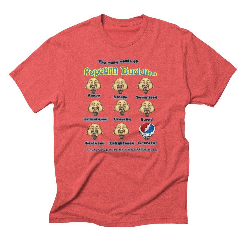 Grateful Mood Men's Triblend T-Shirt by Popcorn Buddha Merchandise