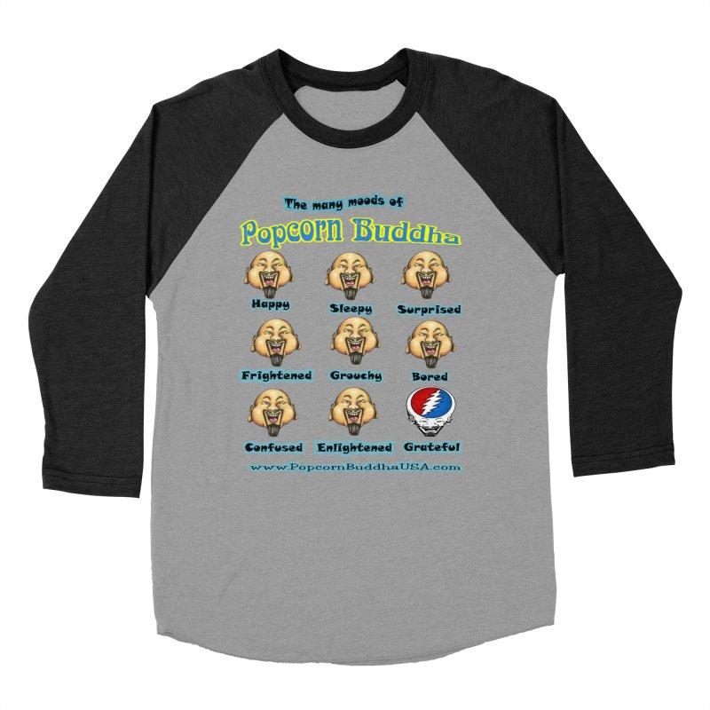 Grateful Mood Women's Baseball Triblend Longsleeve T-Shirt by Popcorn Buddha Merchandise