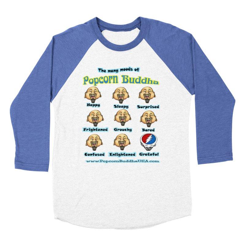 Grateful Mood Men's Baseball Triblend Longsleeve T-Shirt by Popcorn Buddha Merchandise