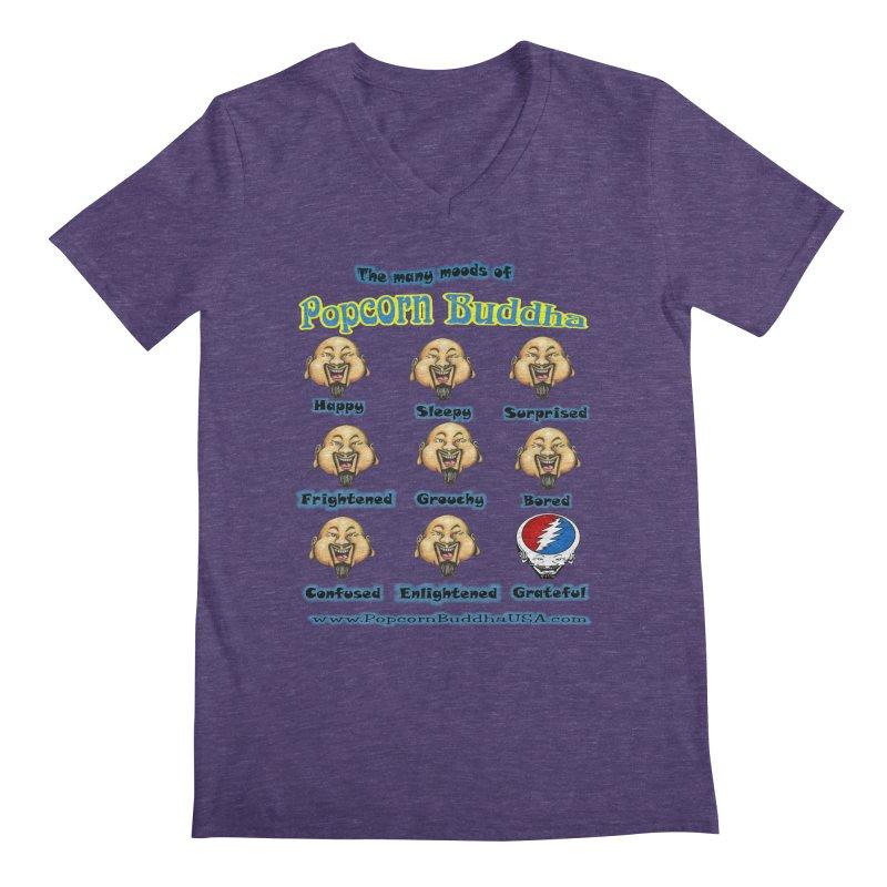 Grateful Mood Men's Regular V-Neck by Popcorn Buddha Merchandise
