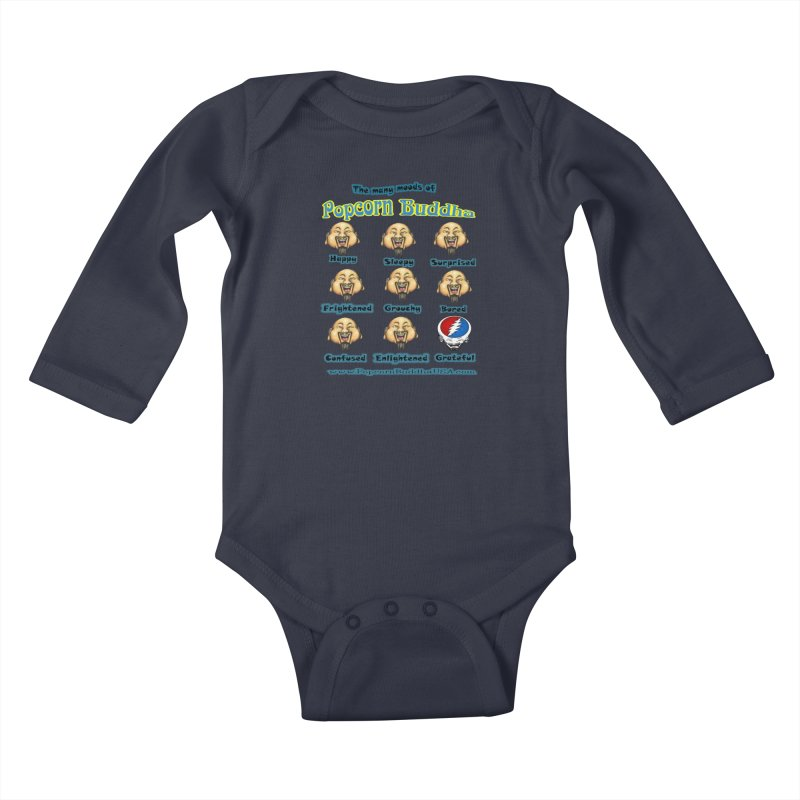 Grateful Mood Kids Baby Longsleeve Bodysuit by Popcorn Buddha Merchandise