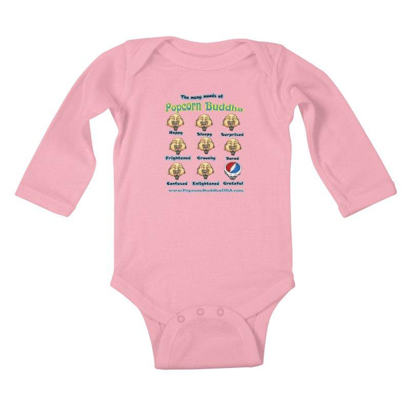 Grateful Mood Kids Baby Longsleeve Bodysuit by Popcorn Buddha Merchandise
