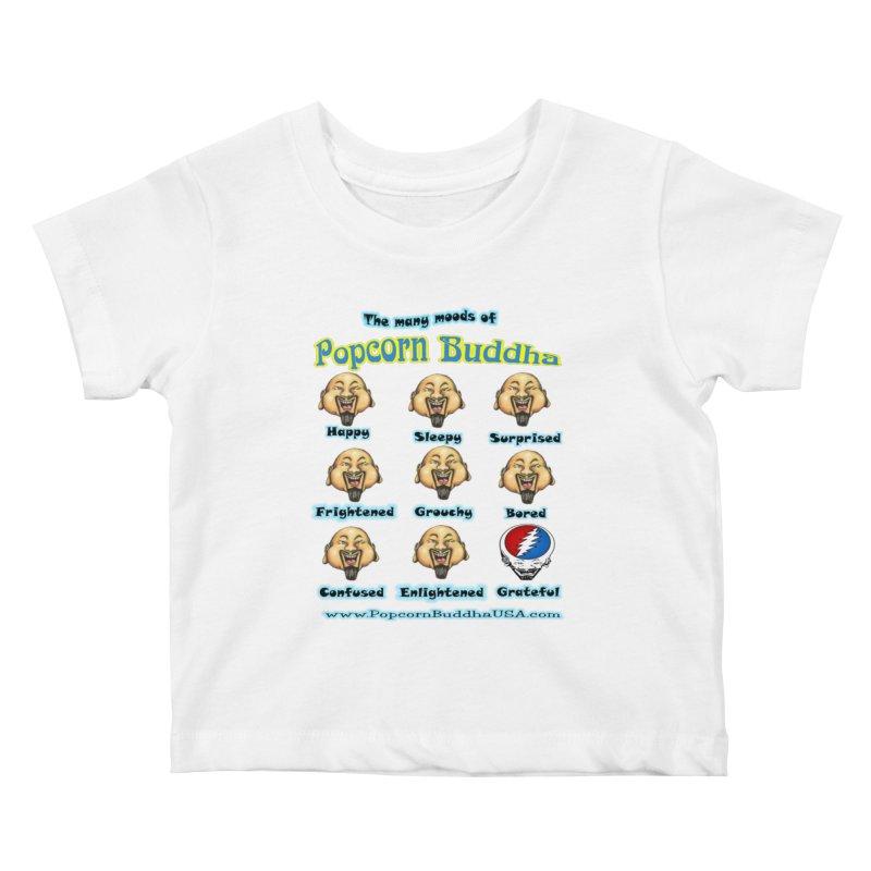 Grateful Mood Kids Baby T-Shirt by Popcorn Buddha Merchandise