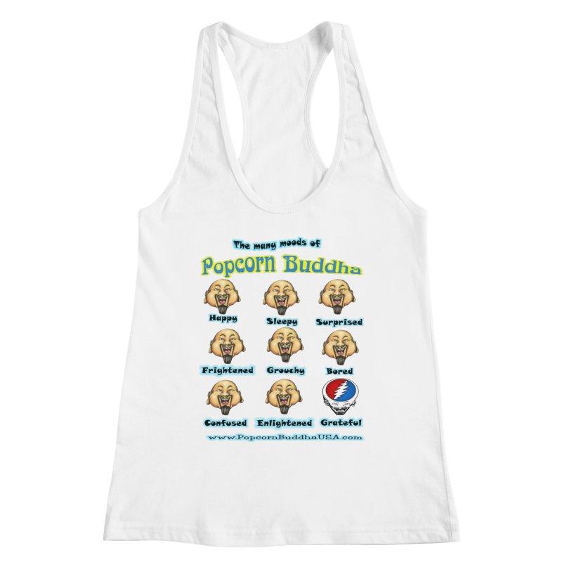 Grateful Mood Women's Racerback Tank by Popcorn Buddha Merchandise