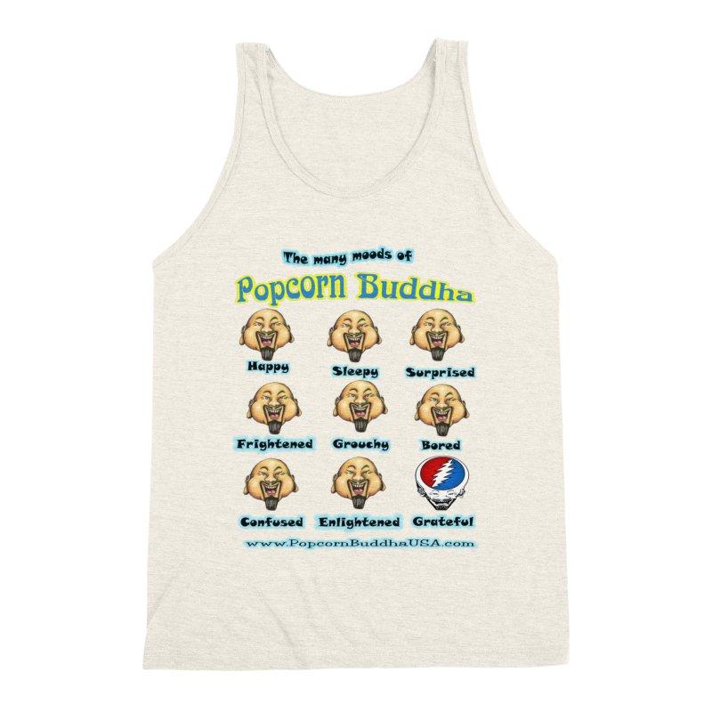 Grateful Mood Men's Triblend Tank by Popcorn Buddha Merchandise