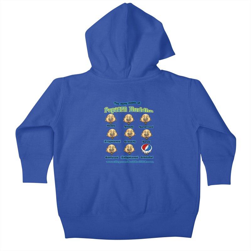 Grateful Mood Kids Baby Zip-Up Hoody by Popcorn Buddha Merchandise
