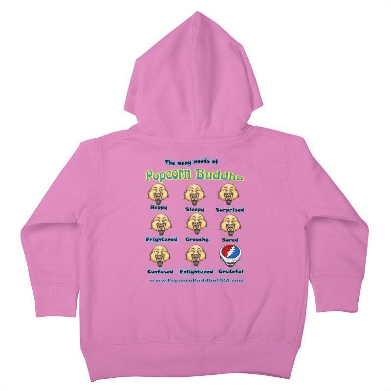 Grateful Mood Kids Toddler Zip-Up Hoody by Popcorn Buddha Merchandise