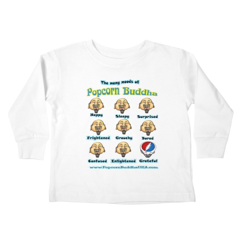 Grateful Mood Kids Toddler Longsleeve T-Shirt by Popcorn Buddha Merchandise