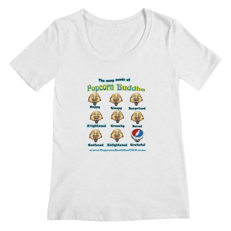 Grateful Mood Women's Regular Scoop Neck by Popcorn Buddha Merchandise