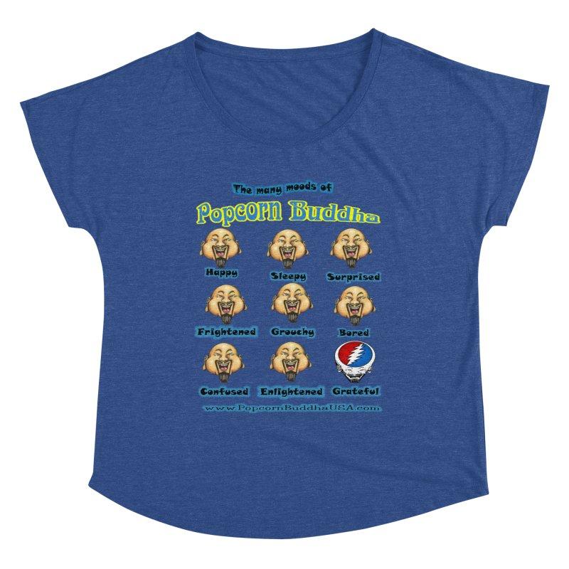 Grateful Mood Women's Dolman Scoop Neck by Popcorn Buddha Merchandise