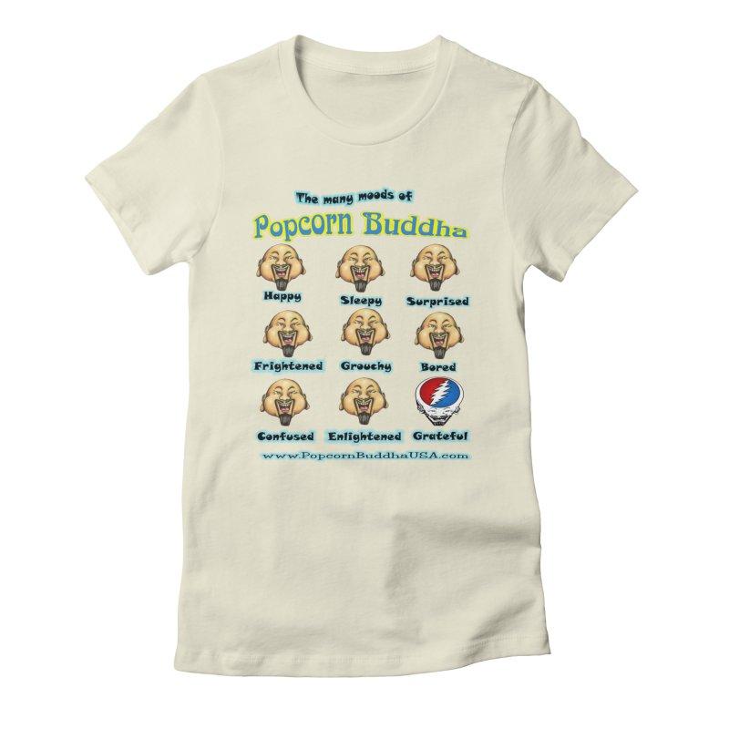 Grateful Mood Women's Fitted T-Shirt by Popcorn Buddha Merchandise