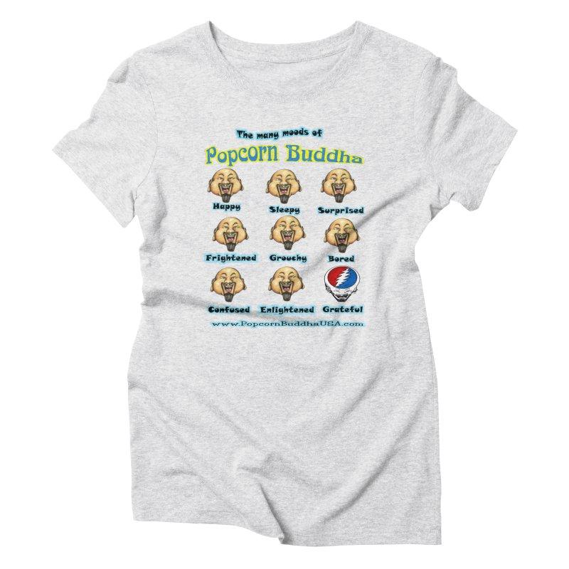 Grateful Mood Women's Triblend T-Shirt by Popcorn Buddha Merchandise