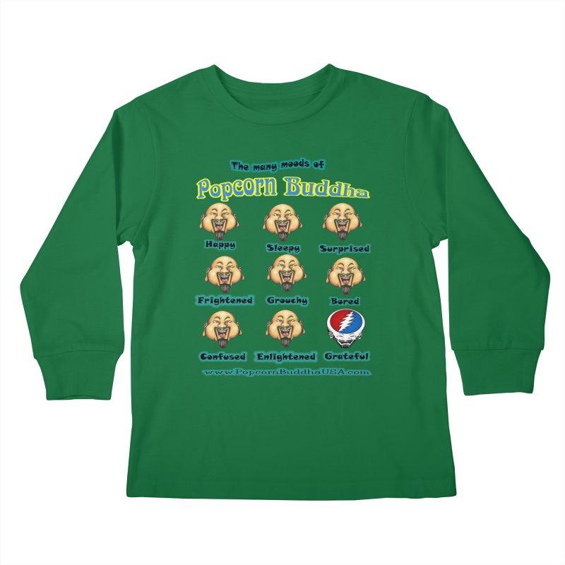 Grateful Mood Kids Longsleeve T-Shirt by Popcorn Buddha Merchandise