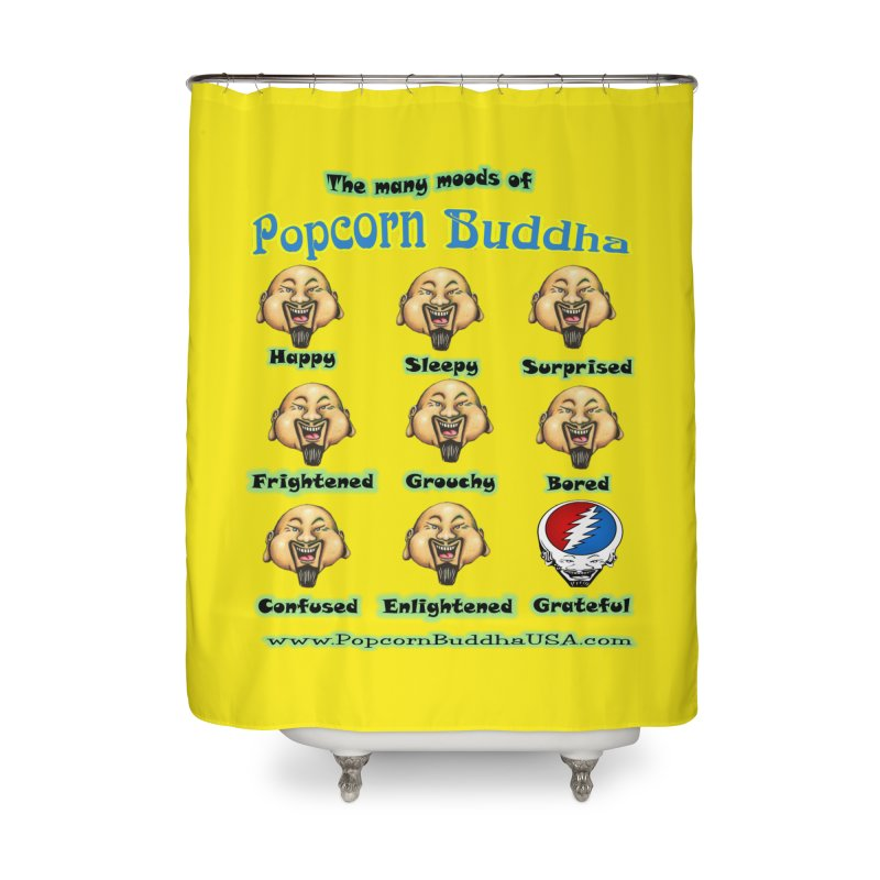 Grateful Mood Home Shower Curtain by Popcorn Buddha Merchandise