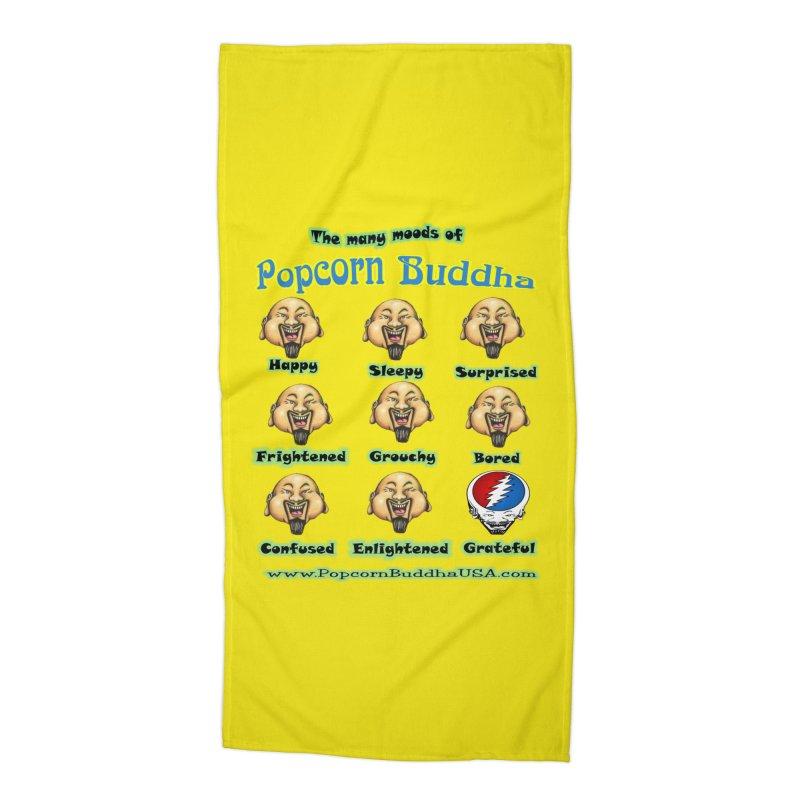 Grateful Mood Accessories Beach Towel by Popcorn Buddha Merchandise
