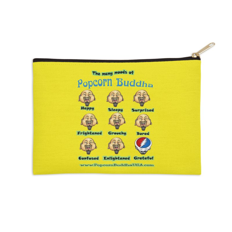 Grateful Mood Accessories Zip Pouch by Popcorn Buddha Merchandise