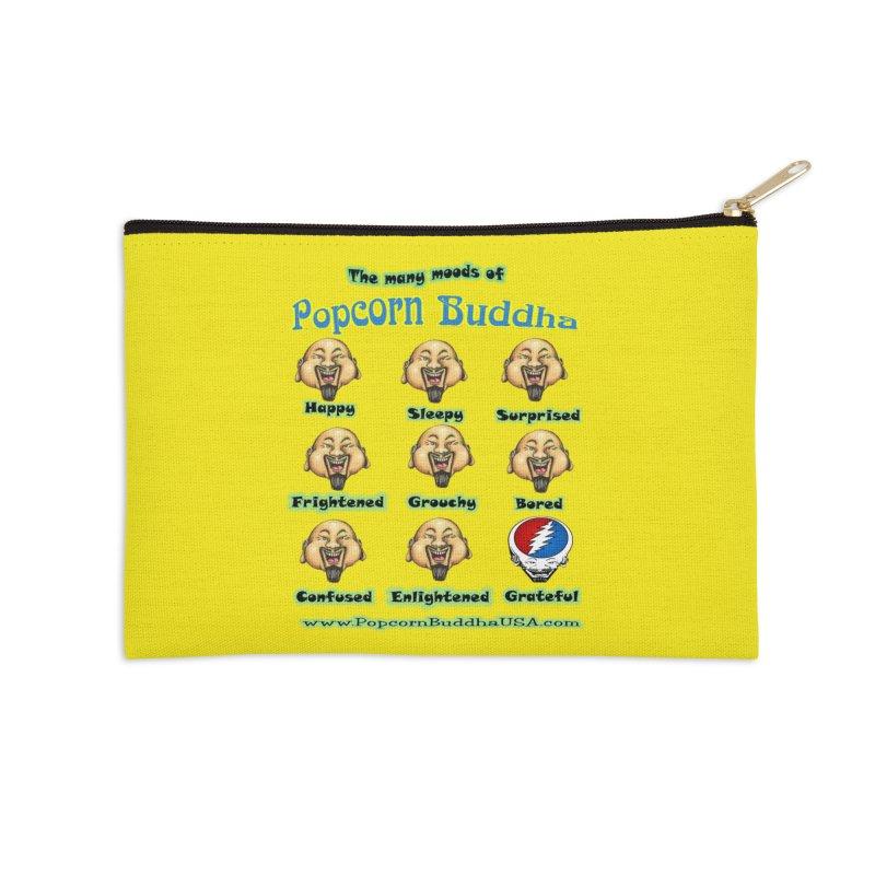 Grateful Mood Accessories Zip Pouch by Popcorn Buddha Merchandise