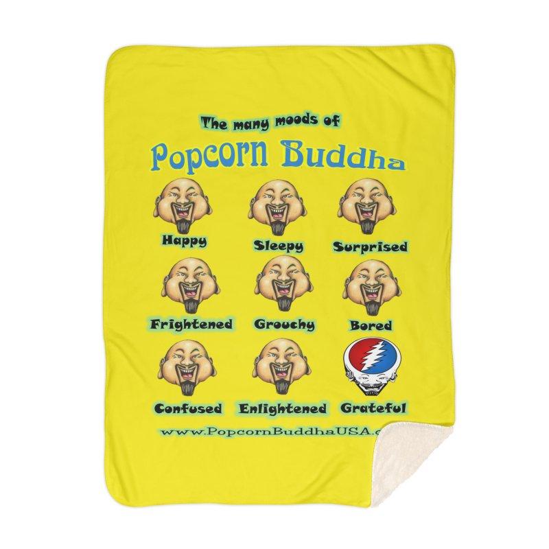 Grateful Mood Home Blanket by Popcorn Buddha Merchandise