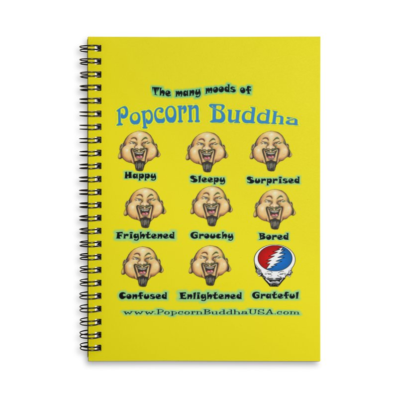 Grateful Mood Accessories Lined Spiral Notebook by Popcorn Buddha Merchandise
