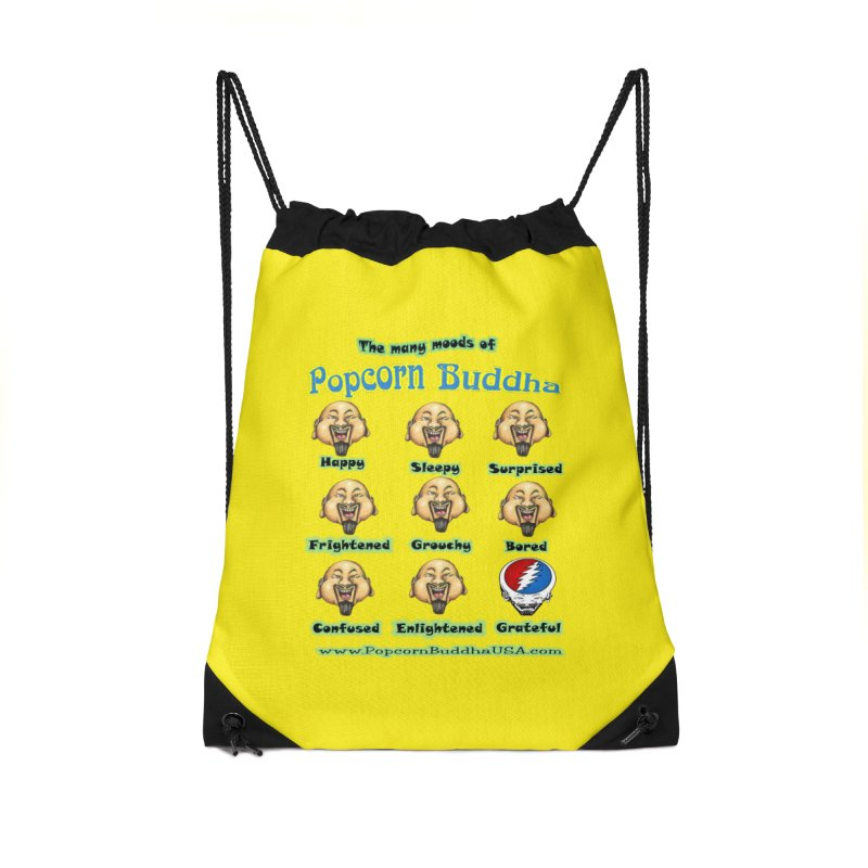 Grateful Mood Accessories Drawstring Bag Bag by Popcorn Buddha Merchandise