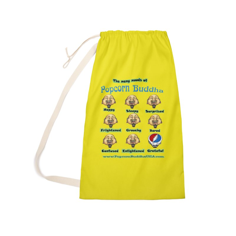 Grateful Mood Accessories Laundry Bag Bag by Popcorn Buddha Merchandise