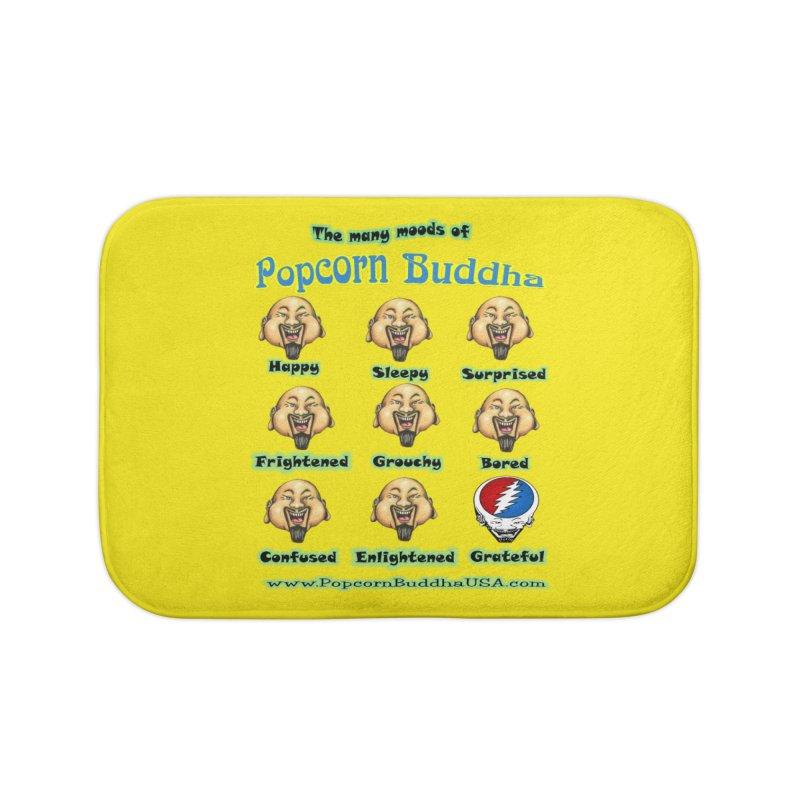 Grateful Mood Home Bath Mat by Popcorn Buddha Merchandise