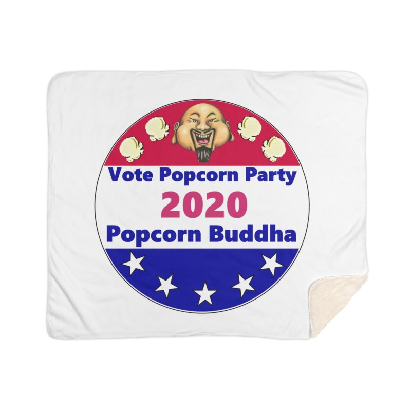 Popcorn Party 2020 Home Sherpa Blanket Blanket by Popcorn Buddha Merchandise
