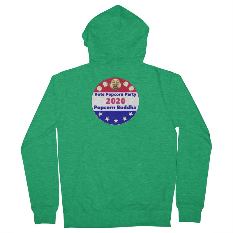 Popcorn Party 2020 Men's French Terry Zip-Up Hoody by Popcorn Buddha Merchandise