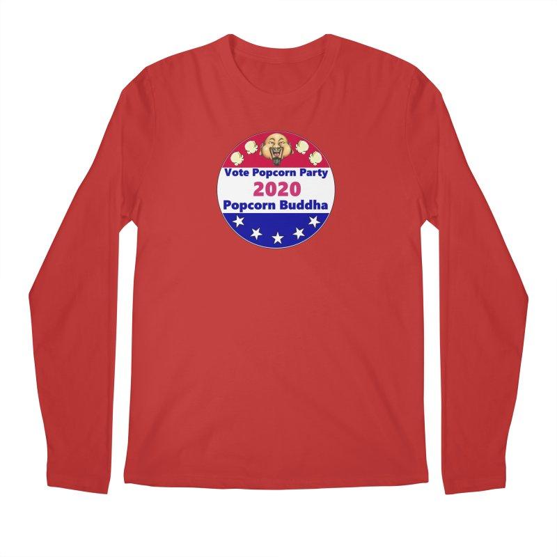 Popcorn Party 2020 Men's Regular Longsleeve T-Shirt by Popcorn Buddha Merchandise