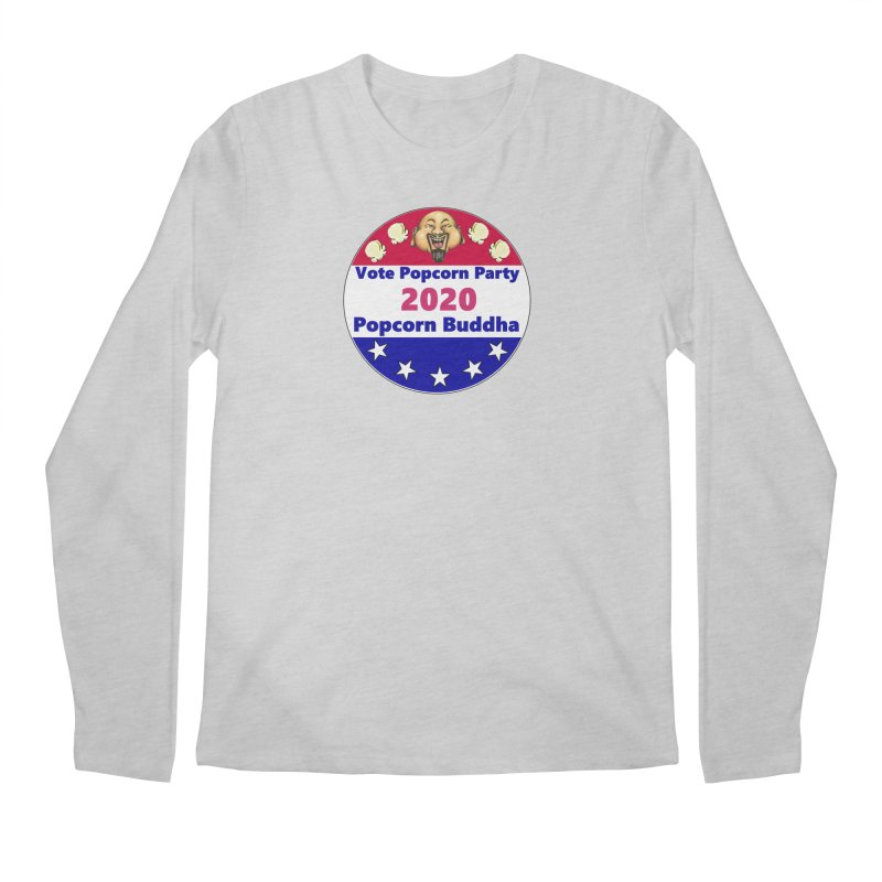 Popcorn Party 2020 Men's Regular Longsleeve T-Shirt by Popcorn Buddha Merchandise