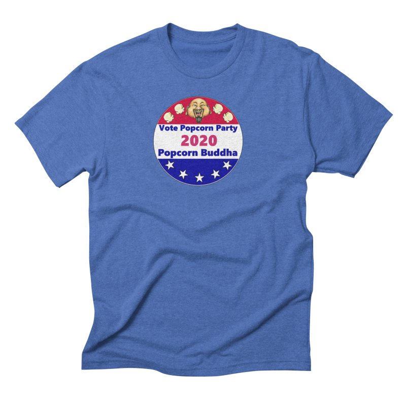 Popcorn Party 2020 Men's Triblend T-Shirt by Popcorn Buddha Merchandise