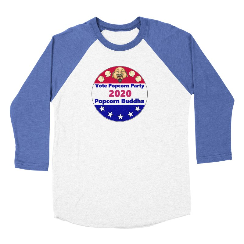 Popcorn Party 2020 Women's Baseball Triblend Longsleeve T-Shirt by Popcorn Buddha Merchandise
