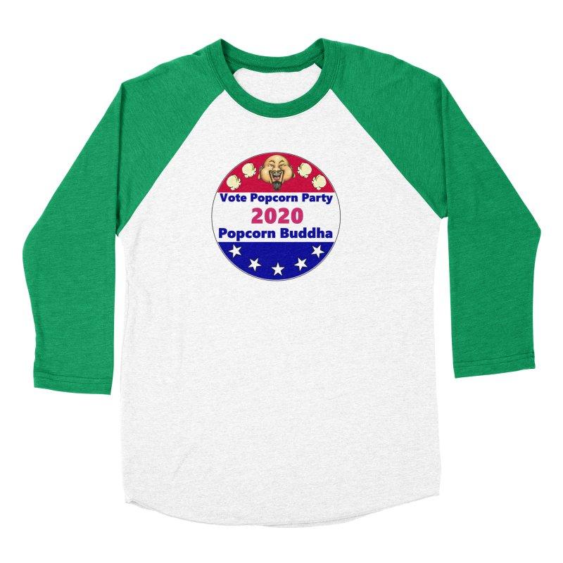 Popcorn Party 2020 Women's Baseball Triblend Longsleeve T-Shirt by Popcorn Buddha Merchandise