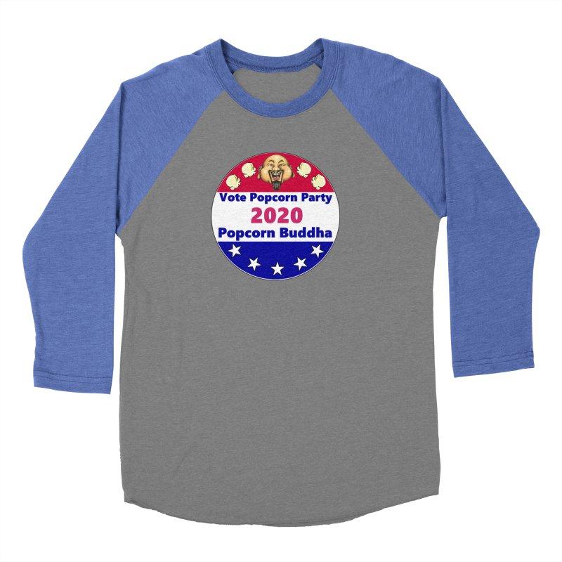 Popcorn Party 2020 Men's Baseball Triblend Longsleeve T-Shirt by Popcorn Buddha Merchandise