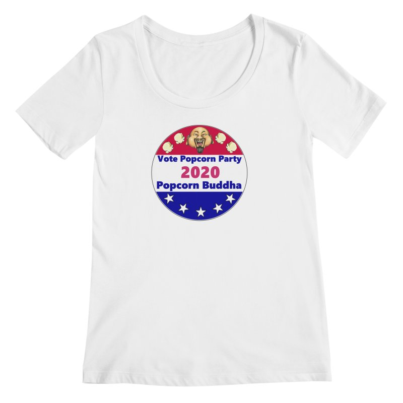 Popcorn Party 2020 Women's Regular Scoop Neck by Popcorn Buddha Merchandise