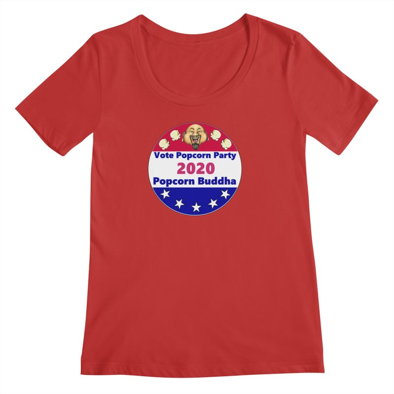 Popcorn Party 2020 Women's Regular Scoop Neck by Popcorn Buddha Merchandise