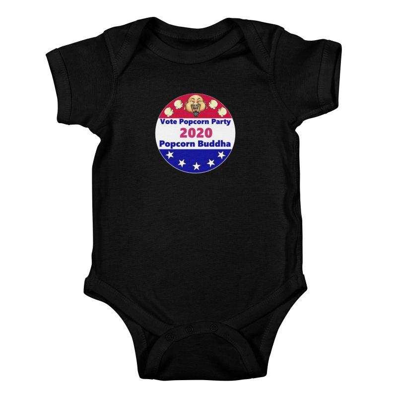 Popcorn Party 2020 Kids Baby Bodysuit by Popcorn Buddha Merchandise