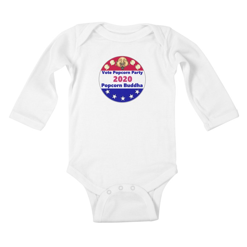 Popcorn Party 2020 Kids Baby Longsleeve Bodysuit by Popcorn Buddha Merchandise