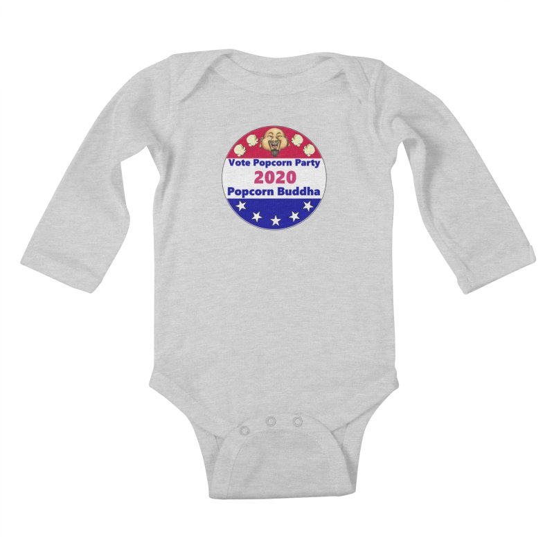 Popcorn Party 2020 Kids Baby Longsleeve Bodysuit by Popcorn Buddha Merchandise