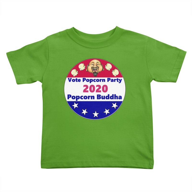Popcorn Party 2020 Kids Toddler T-Shirt by Popcorn Buddha Merchandise