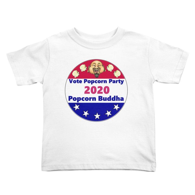 Popcorn Party 2020 Kids Toddler T-Shirt by Popcorn Buddha Merchandise