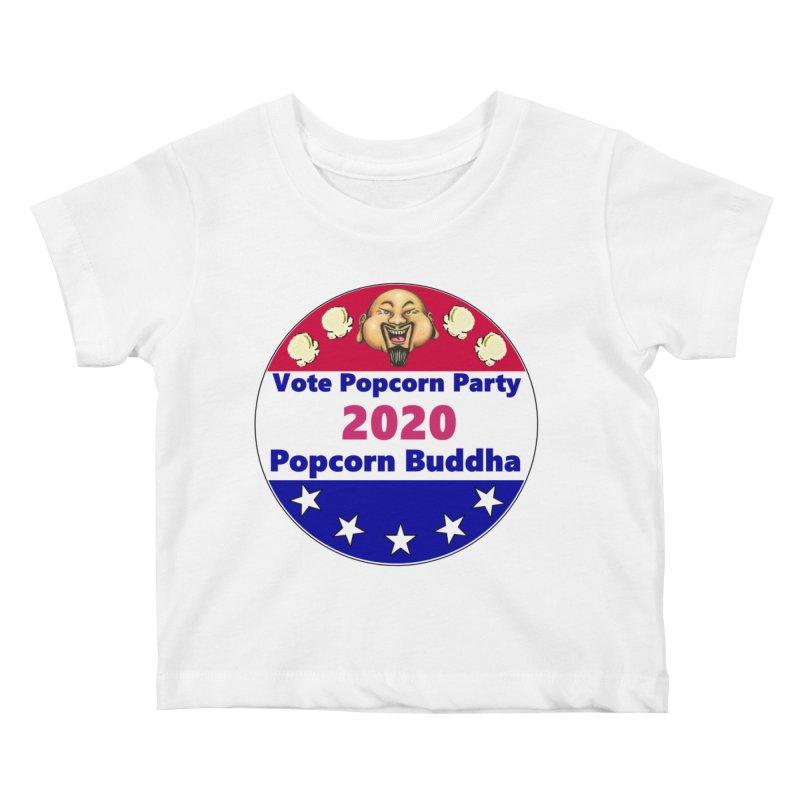 Popcorn Party 2020 Kids Baby T-Shirt by Popcorn Buddha Merchandise