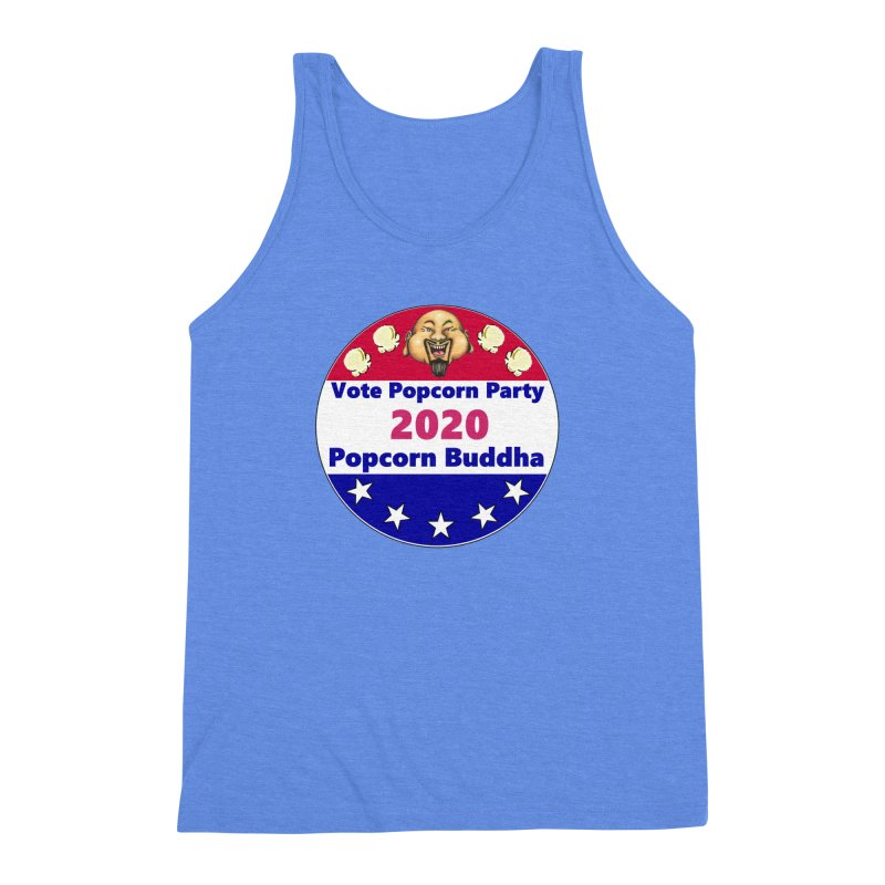 Popcorn Party 2020 Men's Triblend Tank by Popcorn Buddha Merchandise