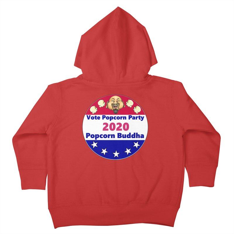 Popcorn Party 2020 Kids Toddler Zip-Up Hoody by Popcorn Buddha Merchandise
