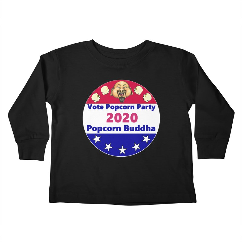 Popcorn Party 2020 Kids Toddler Longsleeve T-Shirt by Popcorn Buddha Merchandise