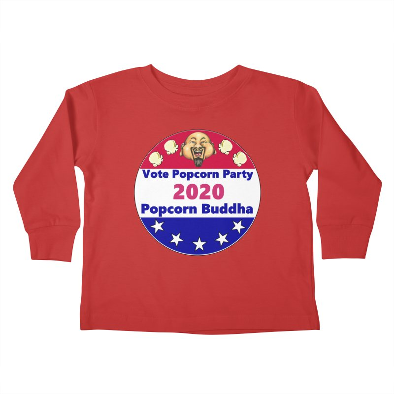 Popcorn Party 2020 Kids Toddler Longsleeve T-Shirt by Popcorn Buddha Merchandise
